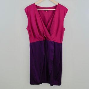 Vince Camuto Color Block Satin Dress